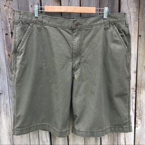 Carhartt Relaxed Fit Flat Front Shorts Army Green